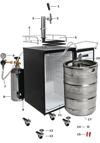 step by step kegerator assembly installation guide kegerator parts guide