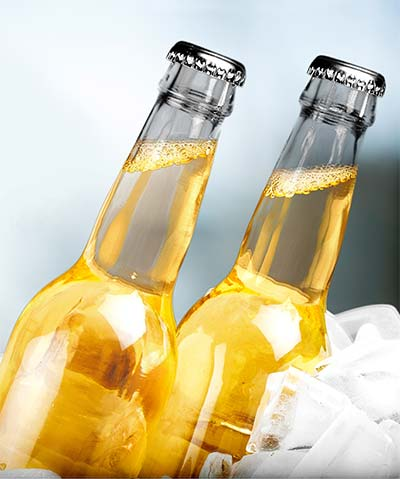 Clear Beer Bottles