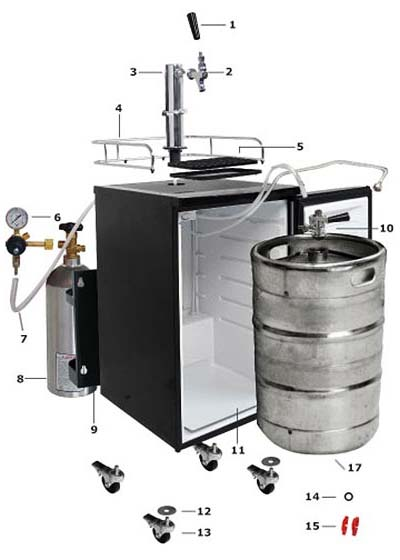 Kegerator Parts Diagram